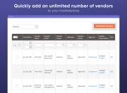 add as many vendors as you want to your marketplace