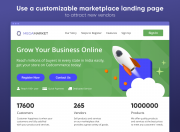 create an attractive landing page of your marketplace