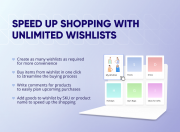 speed up shopping with multiple wishlists