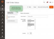 configure settings for a custom order status