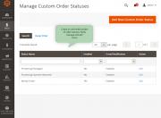 manage order statuses