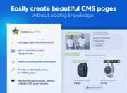 easily create any types of pages in your store without coding skills