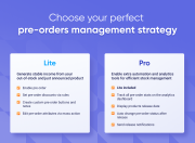 choose your perfect pre-orders management solution