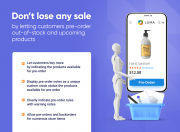 don't lose any sale with pre order