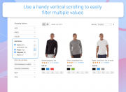 add a handy vertical scrolling to easily filter multiple values