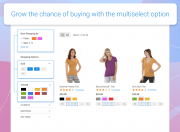 grow the chance of making a purchase by letting users multiselect filter options