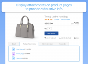 show attachments on product pages