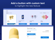add a custom button for products personalization