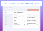 use wizard to set up google and facebook feeds quickly
