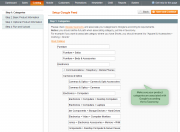 feed creation wizard. easily manage product categories