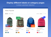 show various labels on category pages