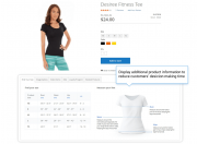 show detailed product information and motivate customers to buy faster