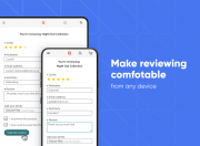 leave and read product reviews from any device
