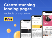 easily create responsive landings with catchy visuals