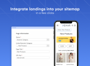 extend site navigation with custom landing pages