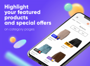 promote particular products on category pages