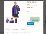 let customers add products to cart from the preview window.