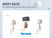 boost sales by negotiating prices with customers