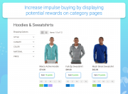 increase impulse buying by displaying potential rewards on category pages
