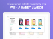 let customers instantly navigate the shop with a search