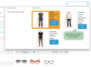 'add to cart' button in the search results window