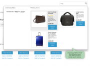 try a wider search window design with category results