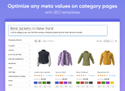 optimize metadata on category pages with seo templates