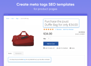 create seo templates for product pages