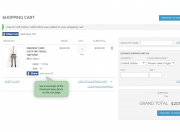 share buttons on the cart page
