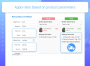 apply rates based on product conditions