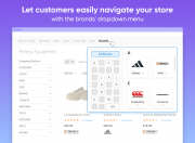 show convenient brands menu popup