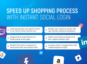 speed up shopping process with instant social login