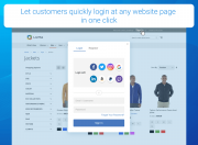 let users quickly login at any website page in one click
