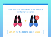 the example of each 2-nd with 50% off promotion