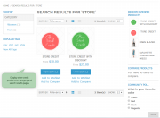 store credit products example.
