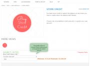 choose store credit amount.