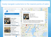 guide customers to the nearest stores