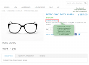 display links leading to offline stores on product pages
