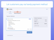 display a handy payment method on the checkout page