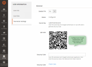 configure and synchronize with google authenticator app