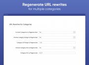 regenerate url rewrites for all or specific categories