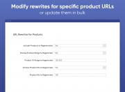 change urls for the range of products