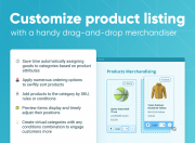 customize product listing with a handy drag-and-drop merchandiser