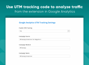 use utm tracking code to analyze traffic from the extension