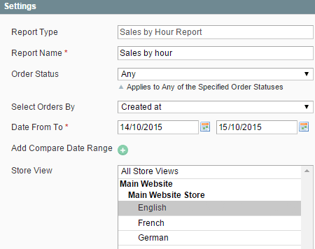 magento advanced reports