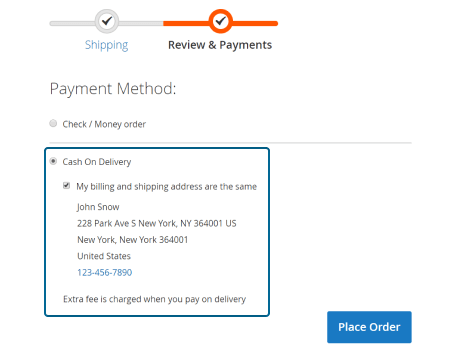 cash on delivery for magento 2