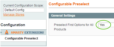 display all attributes of configurable product on page load