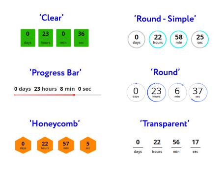 6 ready-made templates