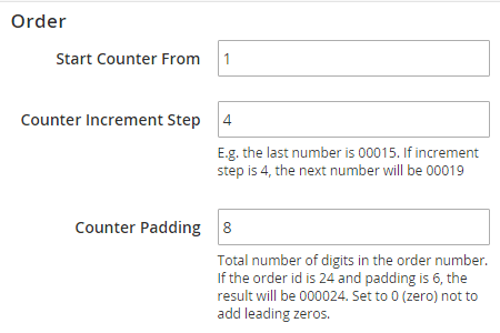 magento custom order number for magento 2 counter step