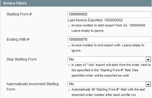 magento order export filters